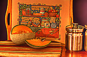 Cantaloupe Posters - Canteloupe Poster by Regina  Williams