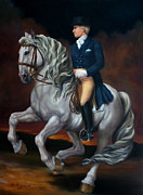Equine Paintings - Canter Pirouette by Lisa Phillips Owens