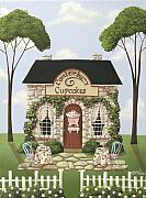 Country Cottage Prints - Canterbury Cupcakes Print by Catherine Holman