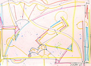 Abstracted Drawings Prints - Cantilever Print by E Dan Barker