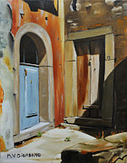 Cantina Paintings - Cantina Doors in Sicily by Marco Vittorio Giordano