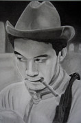 Negro Drawings Framed Prints - Cantinflas Framed Print by Enrique Garcia