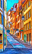 Switzerland Paintings - Canton of Neuchatel by Michael Pickett