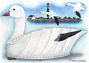 James Lewis - Canvas Snow Goose Decoy
