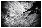 Monotone Prints - Canyon Bottom Print by John Rizzuto