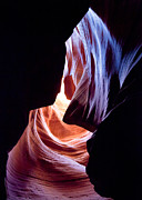 Antelope Canyon Photo Acrylic Prints - Canyon Colours Acrylic Print by David Bowman