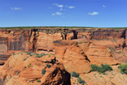 Canyons Posters - Canyon de Chelly from Sliding House Overlook Poster by Christine Till