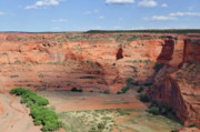 Navaho Posters - Canyon De Chelly near White House Ruins Poster by Christine Till