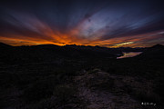 Canyon Lake Sunset Print by Bill Cantey