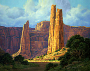 Canyon Painting Framed Prints - Canyon Light Framed Print by Randy Follis