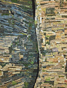 Fabric Art Tapestries - Textiles Posters - Canyon Wall Poster by Patty Caldwell