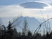 Keith Rautio Art - Cap Over Mt. Rainier by Keith Rautio