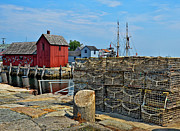 New England Village Framed Prints - Cape Ann Fishing Port... Framed Print by Joanne Beebe