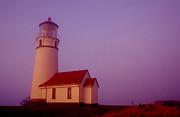 Cape Blancho Lighthouse Print by Joe Klune