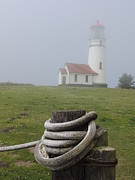 Meadows Mixed Media - Cape Blanco - Oregon Coast Lighthouse by Photography Moments - Sandi