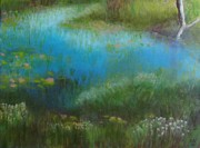 Breton Paintings - Cape Breton Highlands Bog by Karen Walker