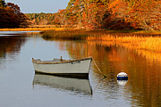 Row Boat Prints - Cape Cod Fall Foliage Print by Juergen Roth