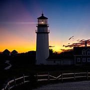 Lighthouse Photos - Cape Cod Light Square by Bill  Wakeley
