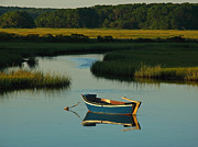 Row Boat Prints - Cape Cod Quietude Print by Juergen Roth