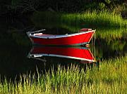 Row Boat Prints - Cape Cod Solitude Print by Juergen Roth