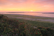 Sunrise Lighthouse Prints - Cape Cod Sunrise at Lighthouse Beach Print by John Burk