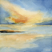 Sunset Seascape Prints - Cape Cod Sunset Seascape Painting Print by Beverly Brown Prints