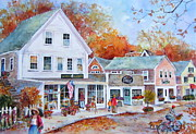 New England Village  Paintings - Cape Cod Village by Sherri Crabtree
