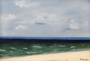Cape Cod Paintings - Cape Cod White Caps at Chapoquoit Beach by Patrick Mancini