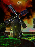 New England Village Originals - Cape Cod Windmill by Michael Rucker