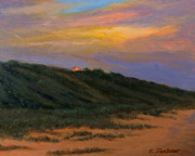 Cape Cod Mass Painting Prints - Cape CodTruro Sundown II  Print by Phyllis Tarlow
