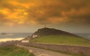 Cape Cornwall Posters - Cape Cornwall  England Poster by Linsey Williams