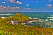 Cape Cornwall Posters - Cape Cornwall Poster by Oliver Kluwe