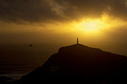 Cape Cornwall Prints - Cape Cornwell Sunset Print by Pete Hemington