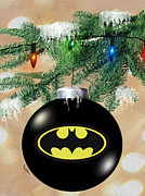 Christmas Bulb Posters - Cape Crusaders Tree Poster by Cheryl Young