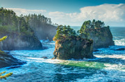 Time Stack Prints - Cape Flattery Print by Rich Leighton