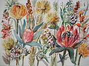 Fynbos Prints - Cape Fynbos 3 Close Up Print by Marion Langton