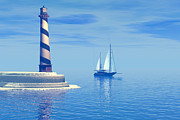Schooner Prints - Cape Hatteras Print by Corey Ford