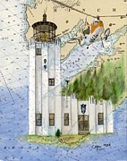 Coast Guard Station Posters - Cape Hinchinbrook Lighthouse AK Nautical Chart Map Art Cathy Peek Poster by Cathy Peek