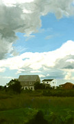 Storm Clouds Cape Cod Metal Prints - Cape House Metal Print by Paul Tagliamonte