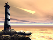 Lighthouse Digital Art - Cape Lookout by Corey Ford