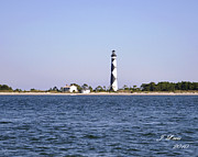 James Lewis Art - Cape Lookout Light by James Lewis