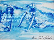 Impressionistic Drawings - Cape May Bathing Beauty by Eric  Schiabor