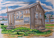 Fishing Shack Paintings - Cape May Fishing Shack by Jack Selby