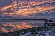 The Nature Center Prints - Cape May Harbor Sunrise Print by Tom Singleton