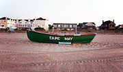 Green Boat Prints - Cape May Print by John Rizzuto