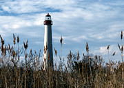 Pictures Of Lighthouses Photo Posters - Cape May Light Poster by Skip Willits