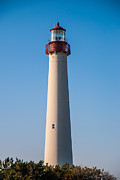 Lighthouse Metal Prints - Cape May Lighthouse Metal Print by Jennifer Lyon