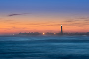 Versprill Framed Prints - Cape May Lighthouse Sunset Framed Print by Michael Ver Sprill