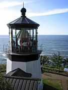 Tillamook Lighthouse Posters - Cape Meares Lighthouse - Oregon Poster by Daniel Hagerman