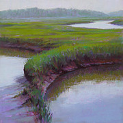 Cape Cod Pastels Prints - Cape Morning Print by Ed Chesnovitch